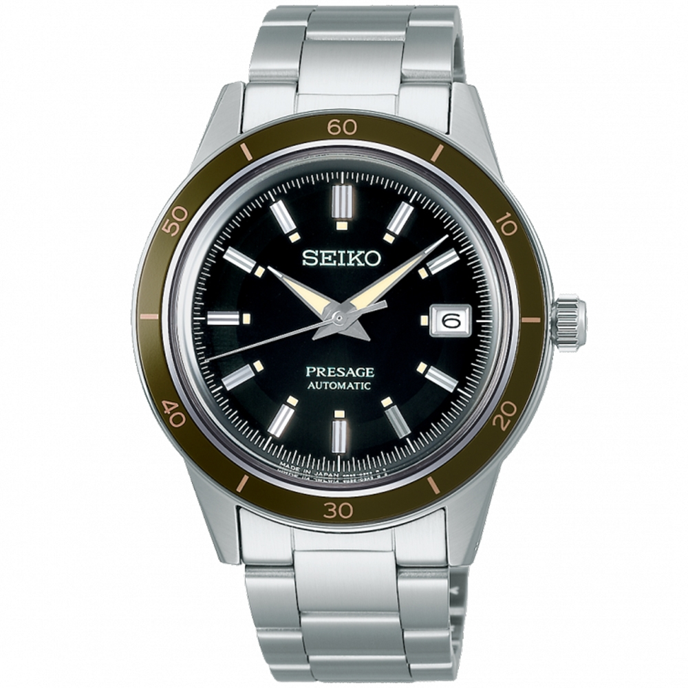 SEIKO精工 PRESAGE Style60's復古機械錶-40.8mm(4R35-05A0G/SRPG07J1)