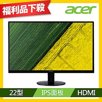 (福利品)Acer SA220Q Abi 22型 IPS 薄邊框電腦螢幕
