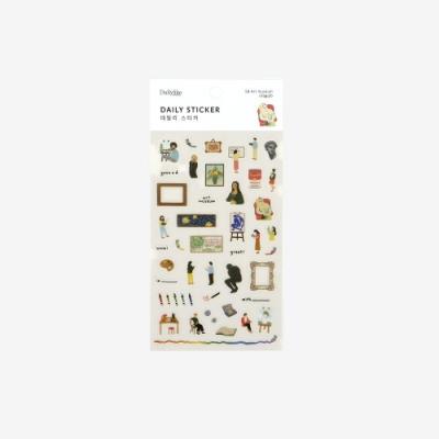 Dailylike 日日美好裝飾透明貼紙-58美術館