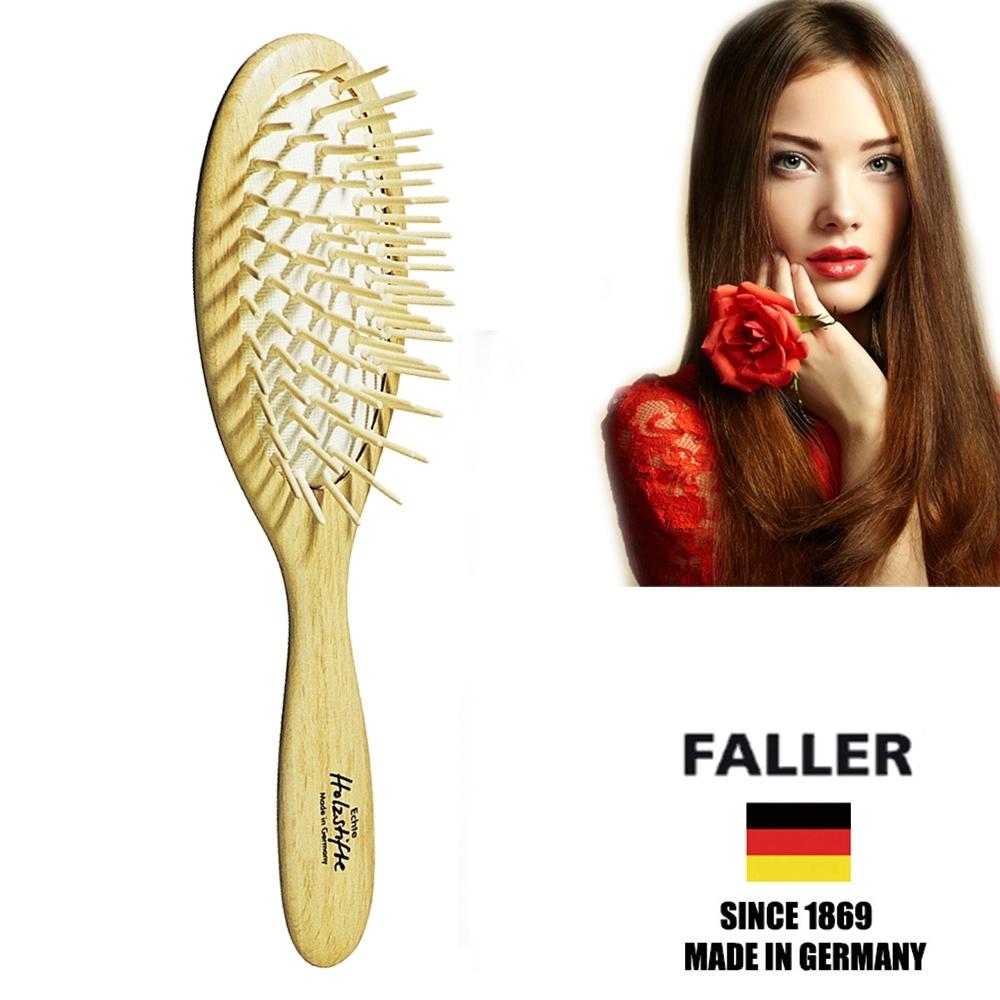 FALLER芙樂德國製FSC橢圓櫸木氣墊木齒梳(一入)