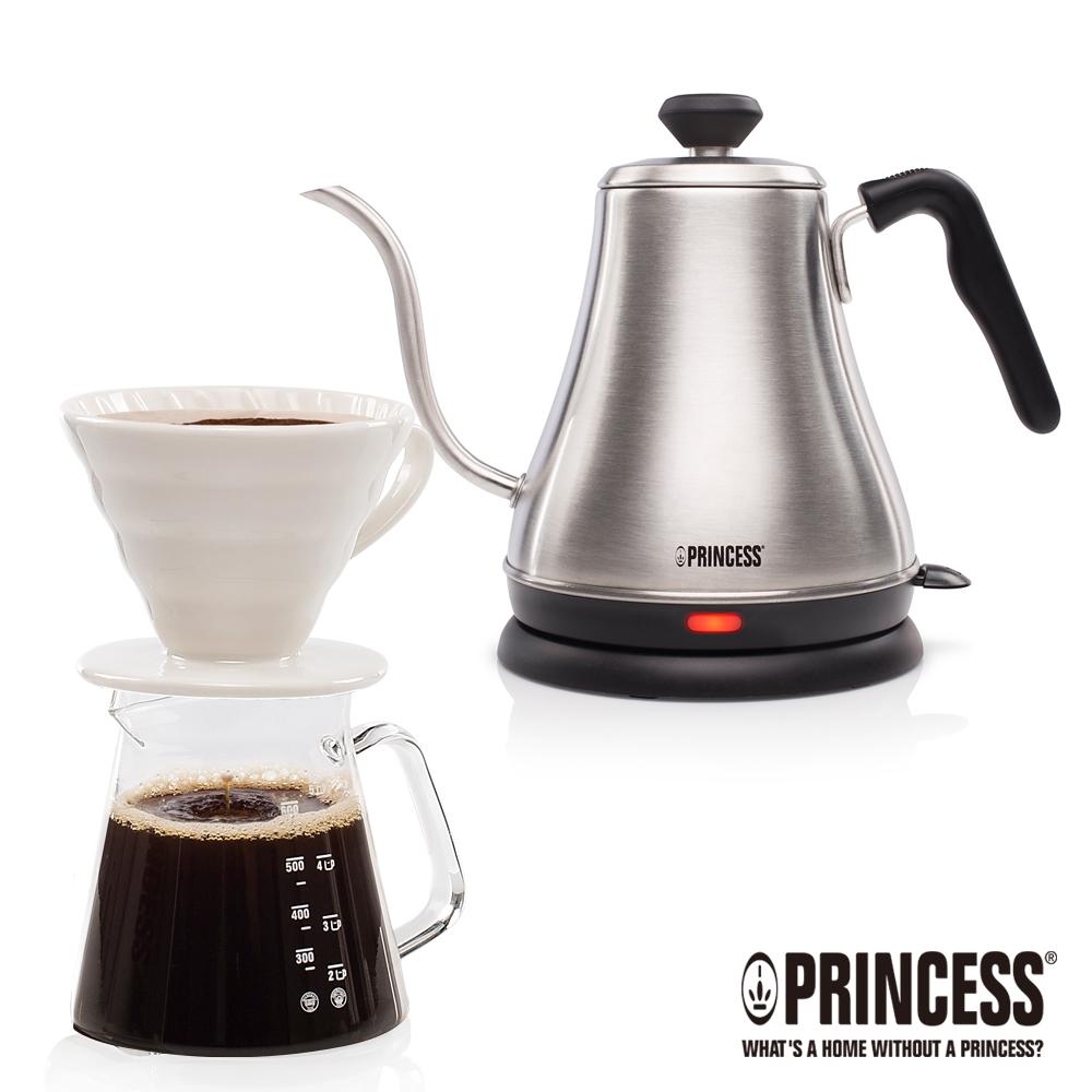 PRINCESS荷蘭公主0.8L細口快煮壺+手沖咖啡杯壺組