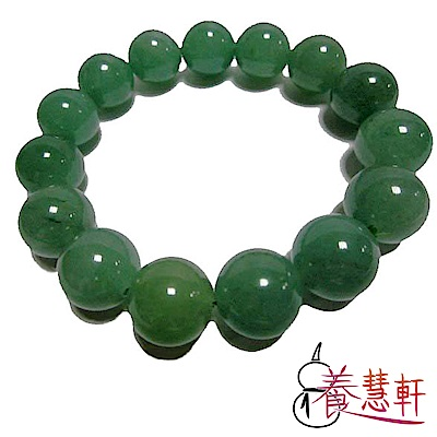 養慧軒 天然綠東菱玉 招財圓珠手鍊(直徑15mm)