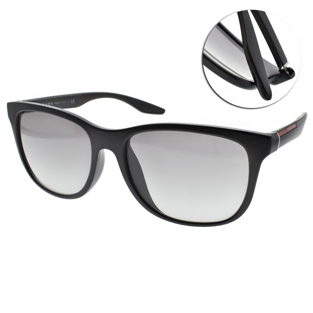 PRADA太陽眼鏡 百搭方框/黑#SPS03OF 1BO3M1