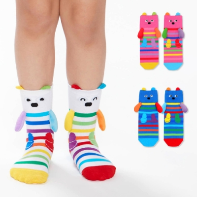 WHY AND 1/2 mini 立體普普熊短襪 多色可選
