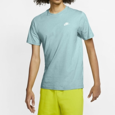 Nike NSW CLUB TEE 男短袖上衣 藍-AR4999382