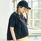 earth music 棉質素面寬版T恤