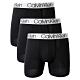 Calvin Klein MICROFIBER 超細纖維彈性男四角內褲-黑色系三入組 product thumbnail 1