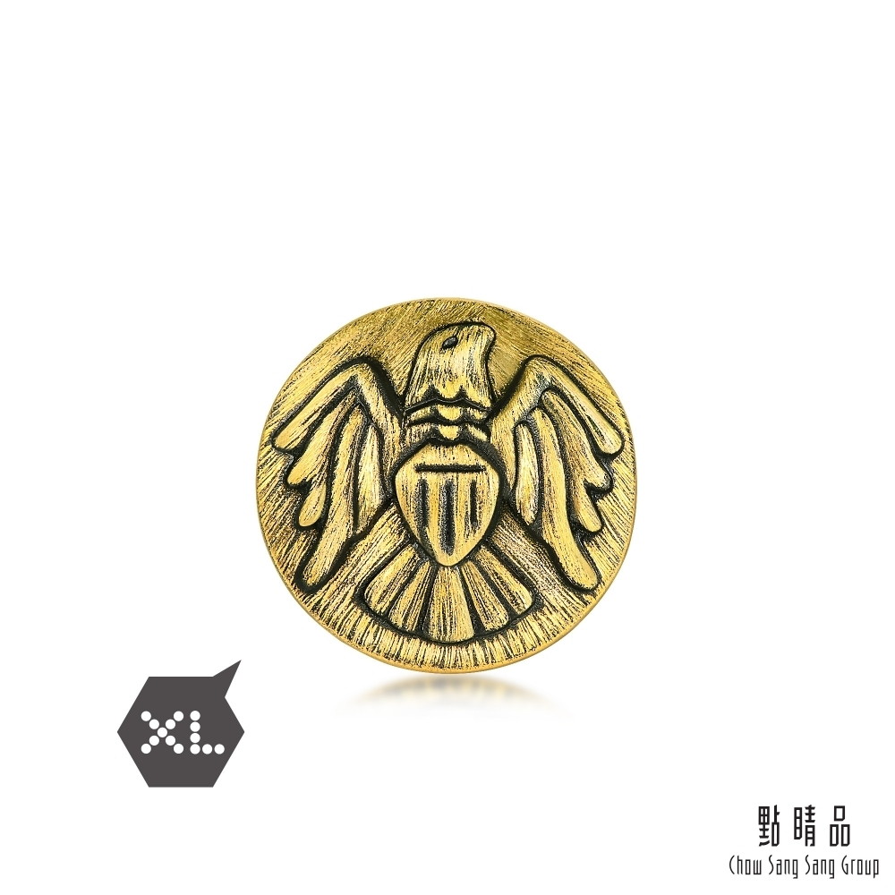 點睛品 999純金 Charme XL 正義飛鷹 黃金串珠