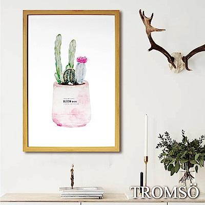 TROMSO格調北歐-棉布有框海報畫(大)-粉紅仙人掌