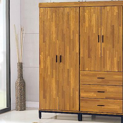 AS-艾瑪工業風單吊衣櫥-77x56x196cm