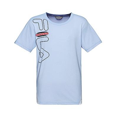 FILA 男款圓領短袖T恤-淺紫 1TET-1700-VT