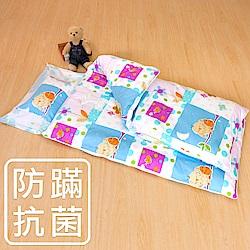 鴻宇 防蟎抗菌 可機洗被胎 鋪棉兩用睡袋 美國棉 精梳棉 晚安貓頭鷹
