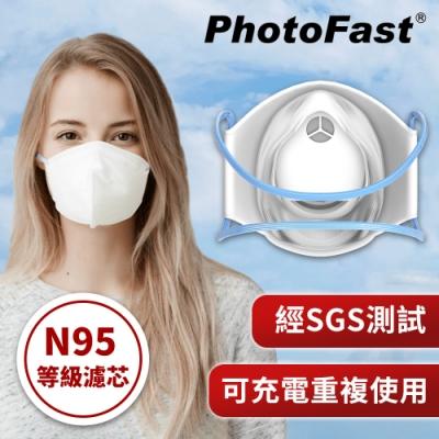 PhotoFast 口罩型 智慧行動空氣清淨機 AM-9500 + 專用濾芯片30入