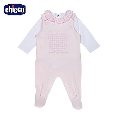 chicco-甜心粉-兩件式背心褲套裝