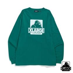 XLARGE L/S TEE OG長袖T恤-深綠