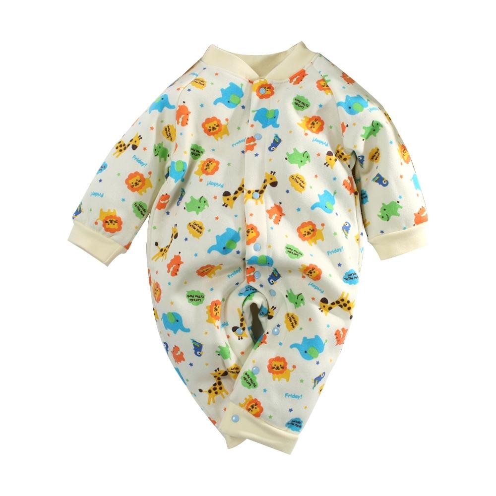 台灣製刷毛款嬰兒連身衣 k61039 魔法Baby