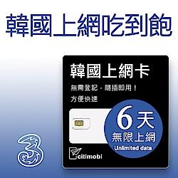 韓國上網卡 - 6天吃到飽