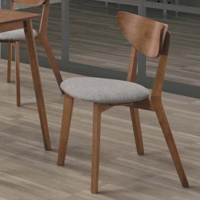 H&D 馬可淺胡桃灰布餐椅