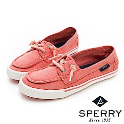SPERRY 玩色繽紛水洗休閒帆船鞋(女)-淺紅