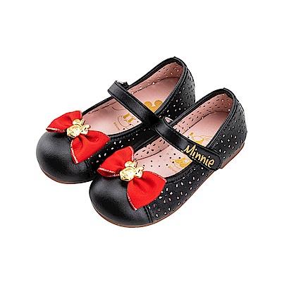 迪士尼童鞋 米妮 鏤空雕花公主鞋-黑