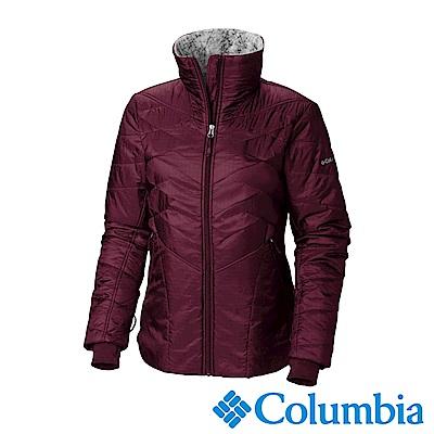 Columbia哥倫比亞 女款- Omni-HEAT鋁點保暖立領外套-暗紅