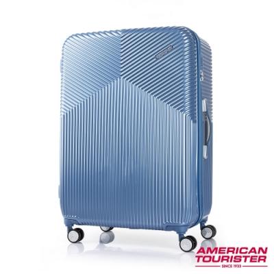 AT美國旅行者 29吋Air Ride 2/8開彈力滑輪PC硬殼行李箱(淡藍)