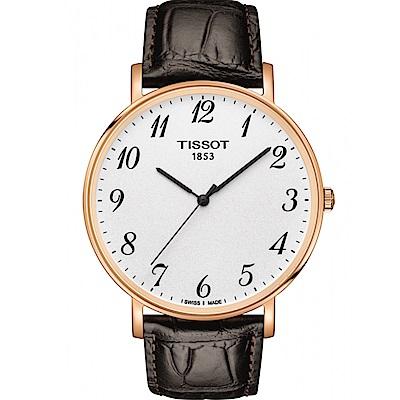 TISSOT天梭Everytime經典時尚腕錶(T1096103603200)-玫瑰金
