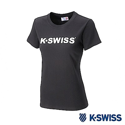 K-SWISS K-SWISS Logo Tee印花短袖T恤-女-黑