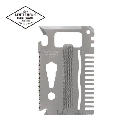 【Gentlemen s Hardware】卡片式多用途工具組-鈦金屬