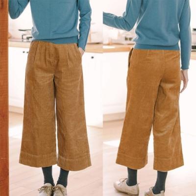 訂製純棉燈蕊絨垂感寬管休閒寬鬆復古長褲-設計所在