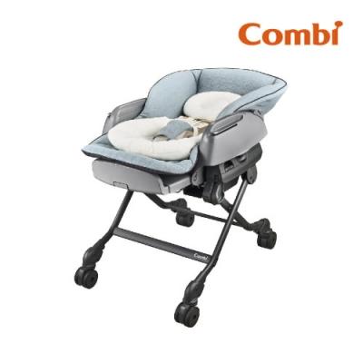 【Combi】BEDi Long MT手動安撫餐搖椅 贈餐椅專用日式網格蚊帳(灰)