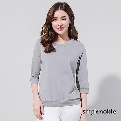 獨身貴族 結構對白異材質拼接設計上衣(2色)