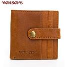 【vensers】小牛皮潮流個性皮夾~(NB800901棕色短夾)