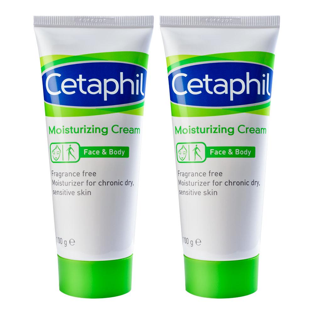 Cetaphil 舒特膚 長效潤膚霜 100g 二入組+長效潤膚霜 30ml+保濕精華乳14g