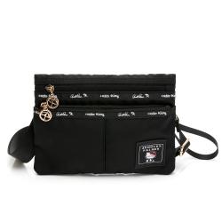 Hello Kitty聯名- 萬用包附手挽帶及長背帶 JUMP系列-黑色