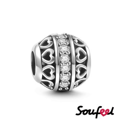 SOUFEEL索菲爾 925純銀珠飾 生日石 四月 串珠