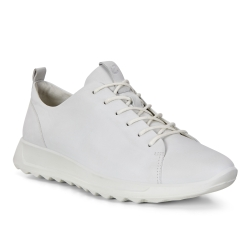 ECCO FLEXURE RUNNER W 隨型彈力運動休閒鞋 女-白