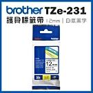 Brother TZe-231 護貝標籤帶 ( 12mm 白底黑字 )