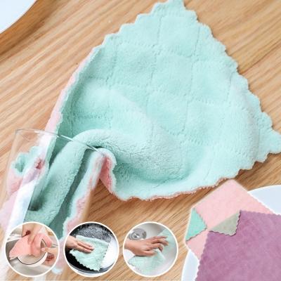 買10送10-EZlife雙層超細纖維吸水抹布 共20條(再贈枕頭晾曬網)
