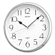 SEIKO 精工 指針式靜音掛鐘(QXA001S)-銀框 product thumbnail 1