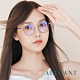 ALEGANT法式優雅復古輕量鈦金屬質感縷空貓眼鏡框UV400濾藍光眼鏡│馬內的沙龍提筆 product thumbnail 1