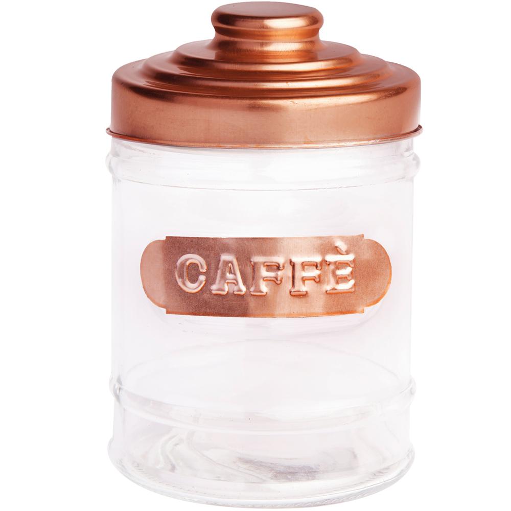《EXCELSA》仿銅面罐蓋咖啡玻璃收納罐(700ml)