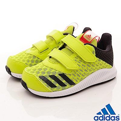 adidas童鞋 超透氣輕量運動鞋 NI518黃綠(小童段)
