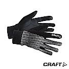 CRAFT 反光保暖跑步手套 經典黑