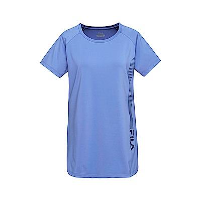 FILA 女抗UV 吸排T恤-藍紫 5TET-1322-VT