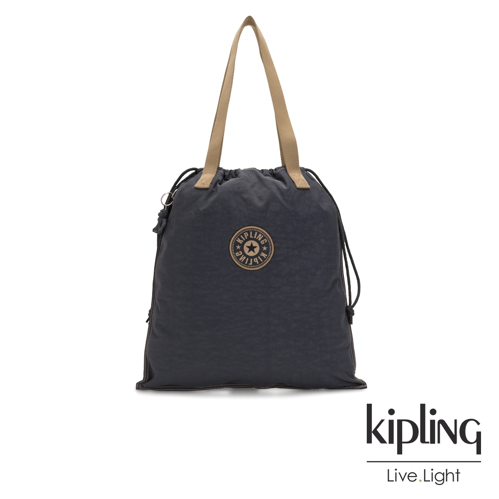 Kipling 質感大地系三色束口抽繩手提袋-NEW HIPHURRAY