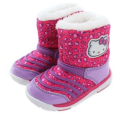 Hello Kitty豹紋女童靴 sk0576 魔法Baby