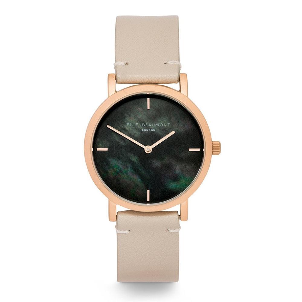 Elie Beaumont 英國手錶 KENSINGTON珍珠母貝系列褐色X玫瑰金36mm