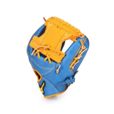 MIZUNO 壘球手套內野手用 寶藍黃