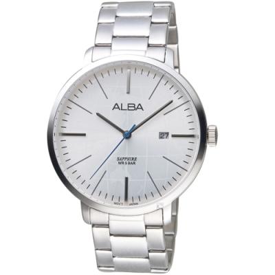 ALBA雅柏環繞世界手錶(VJ42-X296S AS9K59X1)-白